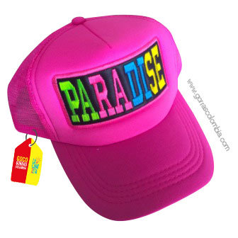 gorra fucsia unicolor personalizada paradise