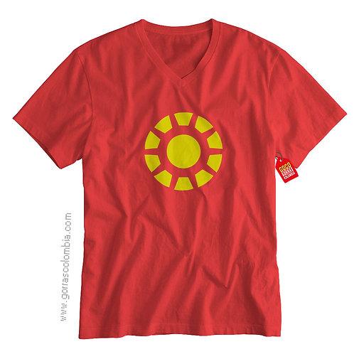 camiseta roja de superheroes ironman reactor