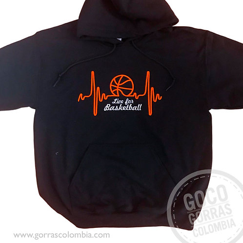 buso negro personalizado live for basketball
