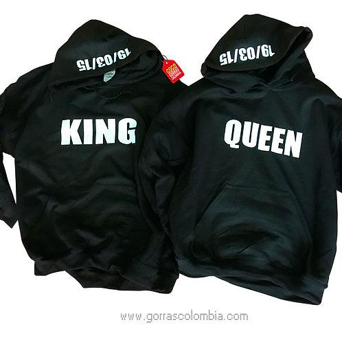 busos negros con capota para pareja king y queen fecha