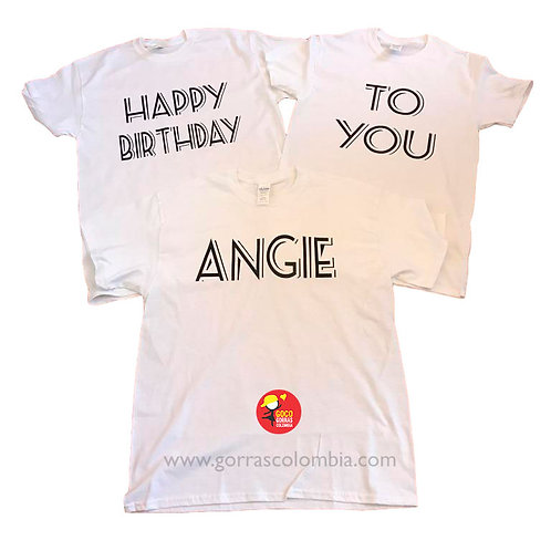 camisetas blancas para amigas happy birthday to you