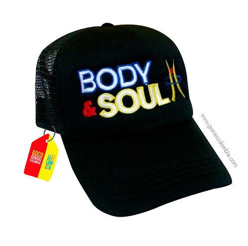 gorra negra unicolor personalizada body y soul