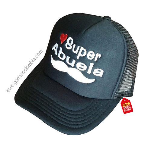 gorra negra unicolor para familia super abuela