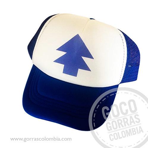 gorra azul frente blanco para niño dipper pines