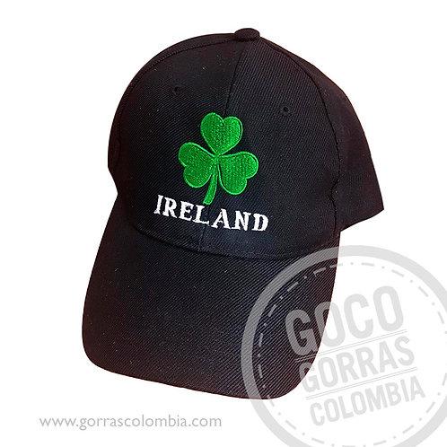 gorra negra unicolor personalizada trebol ireland