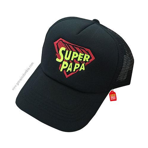 gorra negra unicolor para familia super papá