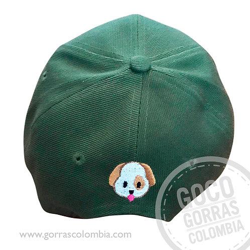 gorra verde unicolor personalizada emoji perro