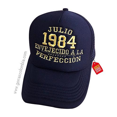 gorra negra unicolor personalizada envejecido a la perfeccion
