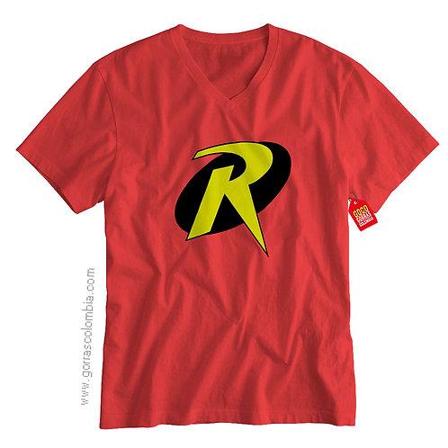 camiseta roja de superheroes robin