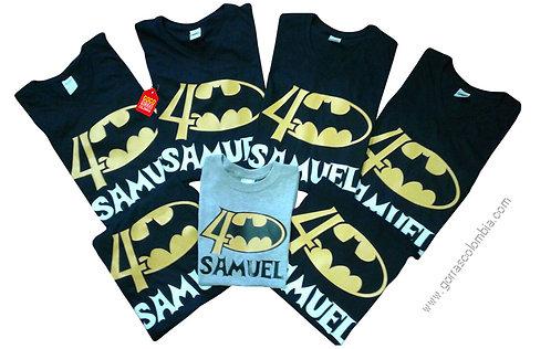 camisetas negras y gris para fiesta de batman