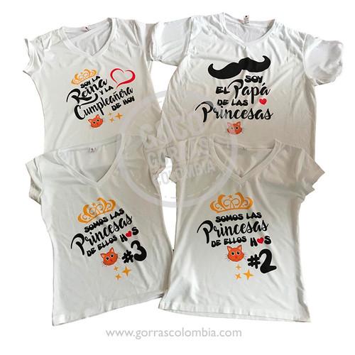 aa54ec1fa camisetas blancas para familia cumpleanos
