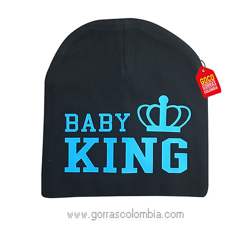 gorro negro para bebe baby king