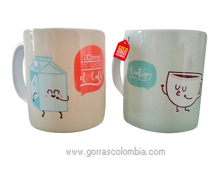 mug blanco personalizado café contigo