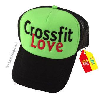 gorra negra frente verde personalizada crossfit love