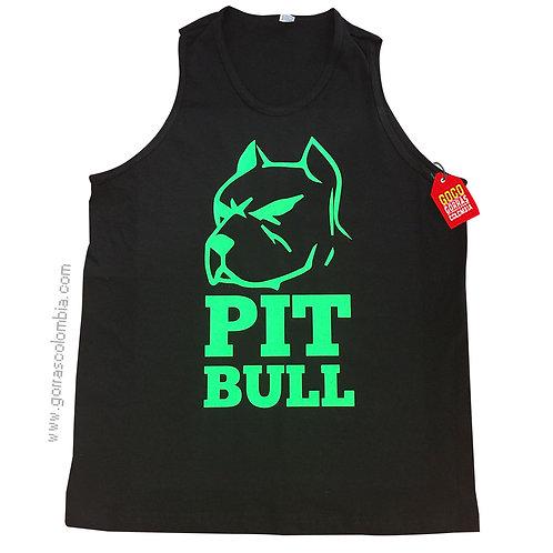 camiseta negra personalizada pitbull