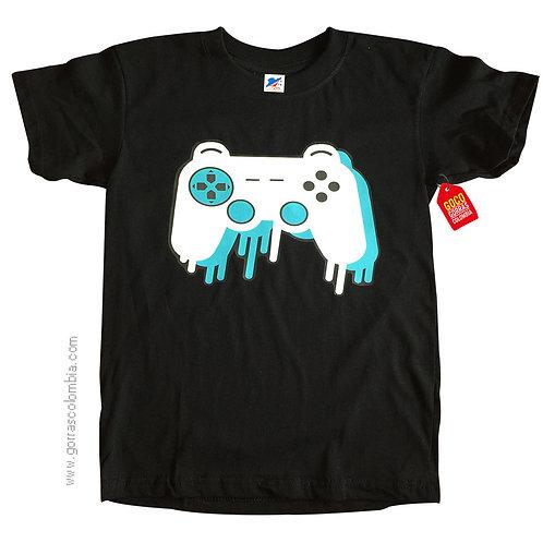 camiseta negra para niño gamer