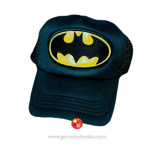 gorra negra unicolor para superheroes batman