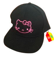 gorra negra unicolor personalizada hello kitty
