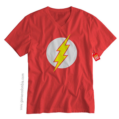 camiseta roja de superheroes flash
