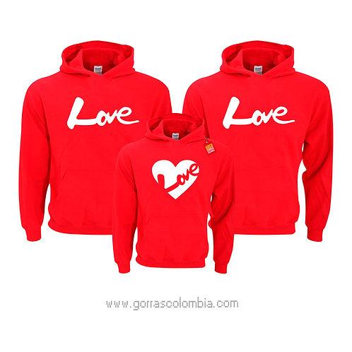 busos rojos con capota para familia love