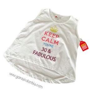 camiseta blanca personalizada fabulous
