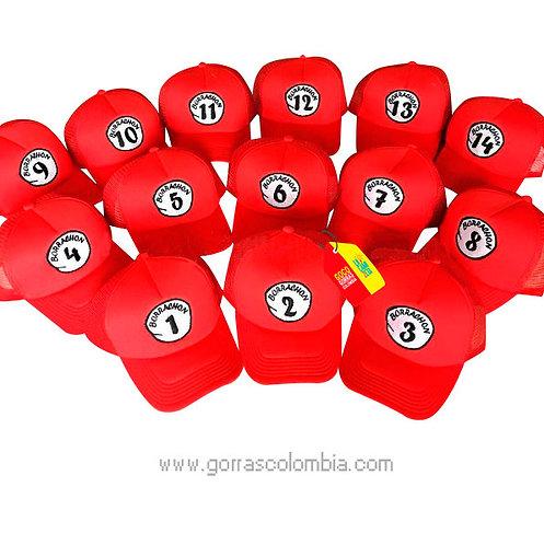 gorras rojas unicolor para fiesta borrachon