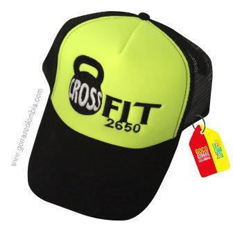 gorra negra frente verde personalizada crossfit numero