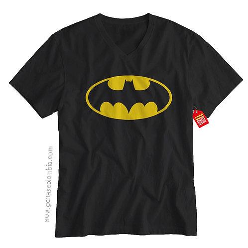 camiseta negra de superheroes batman