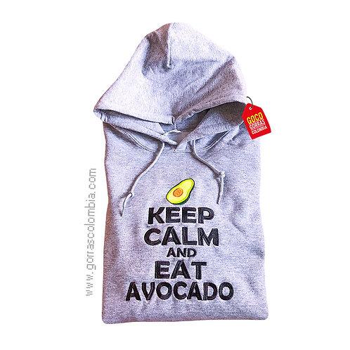 buso gris con capota personalizado keep calm