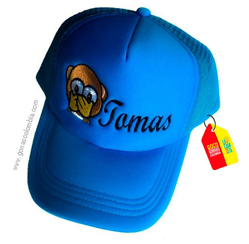 gorra azul unicolor para niño mono
