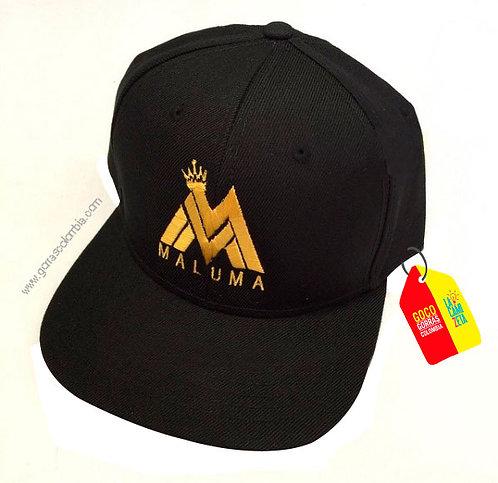 gorra negra unicolor personalizada maluma