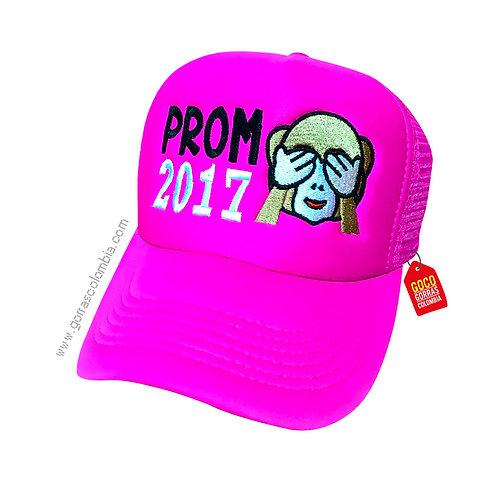 gorra fucsia unicolor personalizada prom emoji mono