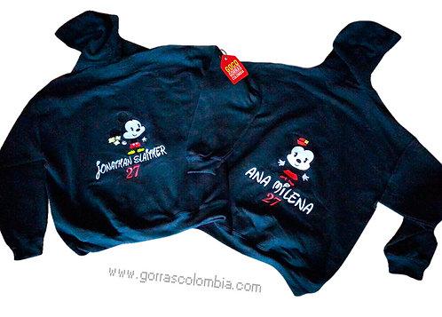 busos negros con capota para pareja mickey y minnie cuties