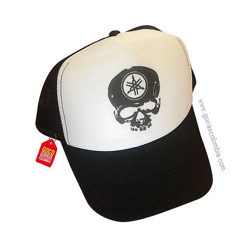gorra negra frente blanco personalizada calavera