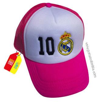 gorra fucsia frente blanco personalizada real madrid