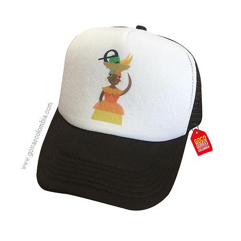 gorra negra frente blanco personalizada logo empresa