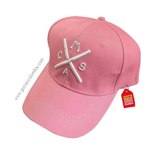 gorra rosada unicolor personalizada iniciales