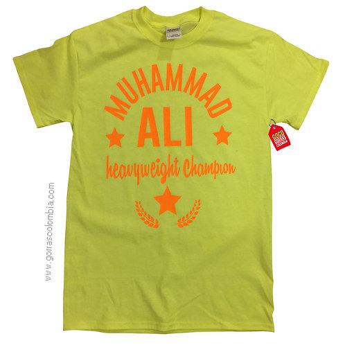 camiseta verde personalizada muhammad ali