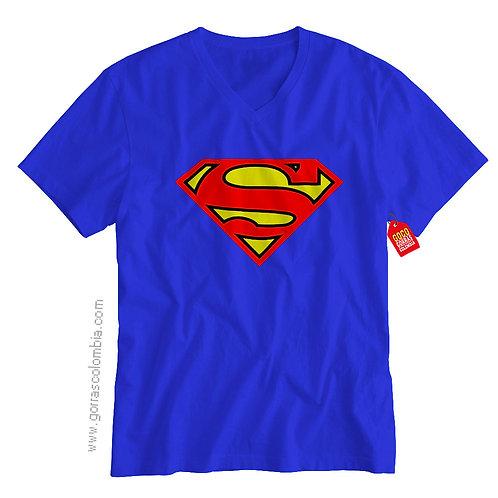 camiseta azul de superheroes superman