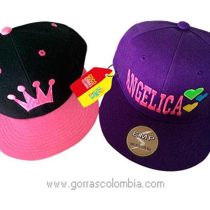 gorras varias unicolor para amigas nombre y corona