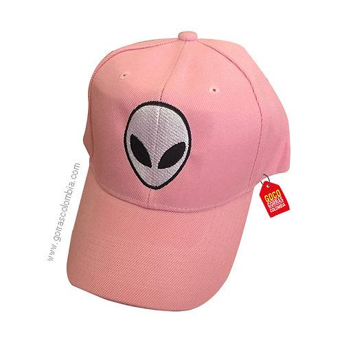 gorra rosada unicolor personalizada alien