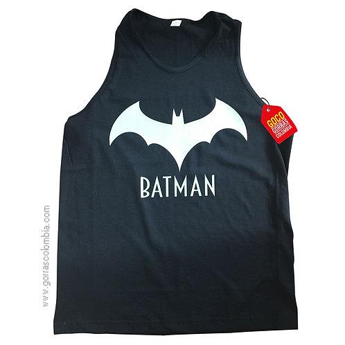 camiseta negra para niño de batman blanco