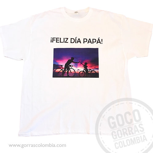 camiseta blanca personalizada feliz dia papa