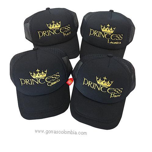 gorras negras unicolor para amigas princess