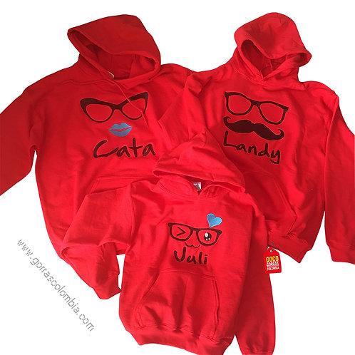 busos rojos con capota para familia hipster