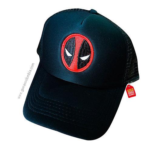 gorra negra unicolor de superheroes dead pool
