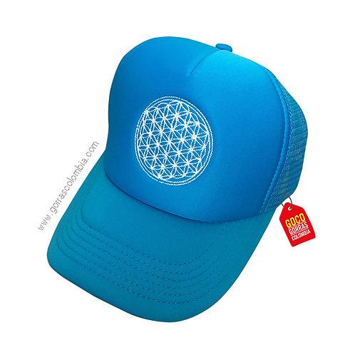 gorra azul unicolor personalizada logo empresa