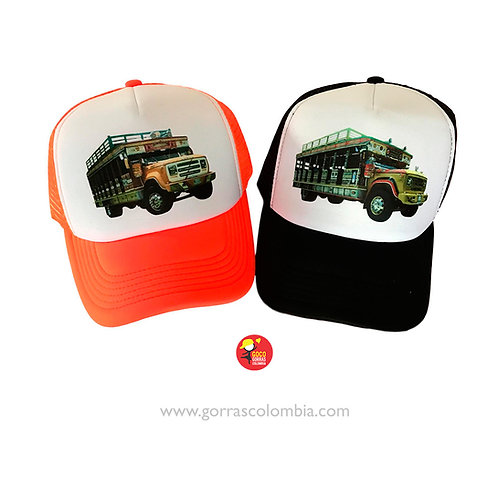 gorras naranja y negra frente blanco para fiesta chivas rumberas