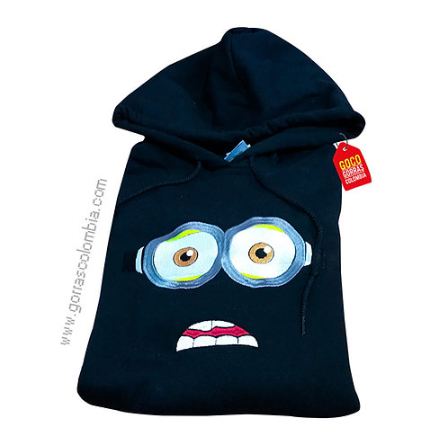 buso negro con capota personalizado de minnion