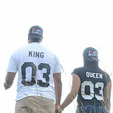 sueteres novios camisetas king y queen